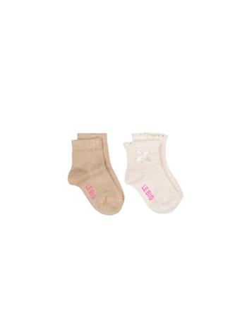 Sokken Izadora Pearled Ivory/gold  Kousen  Kousen/sokken