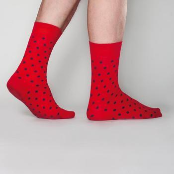 Sokken Johnny Dash Red/Grey dot  Kousen  Kousen/sokken