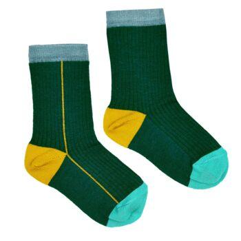 Socks green  Kousen  Kousen/sokken