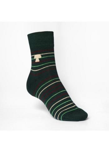 sokken/kousen groen gestreept forest'  Kousen  Kousen/sokken