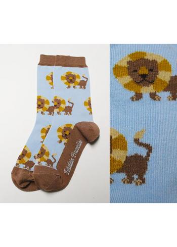 Sokken leeuw bruin/blauw  Kousen  Kousen/sokken