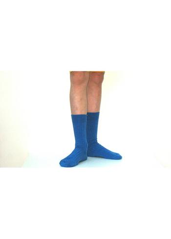 Sokken met fijne rib Indigo  Kousen  Kousen/sokken