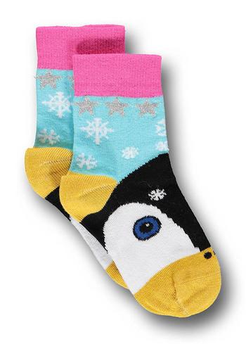 Sokken pinguin licht blauw  Kousen  Kousen/sokken