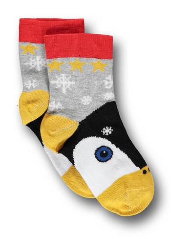 Sokken pinguin licht grijs  Kousen  Kousen/sokken