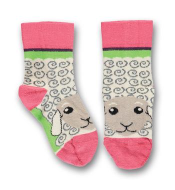 Sokken Sheep rose of sharon/green  Kousen  Kousen/sokken