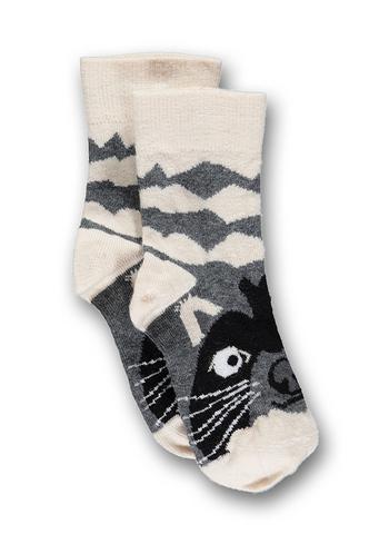 Sokken talkie walkie wasbeer grijs  Kousen  Kousen/sokken