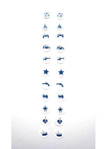 Strijkrondjes jongen blauw  Kousen  Accessoires