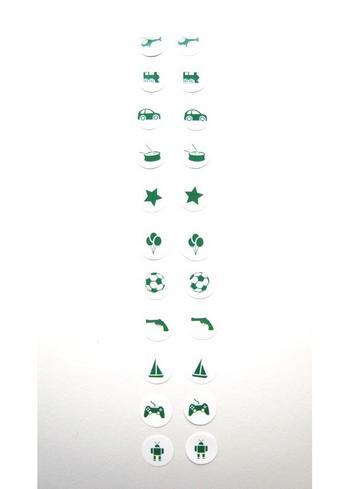 Strijkrondjes jongen groen  Kousen  Accessoires