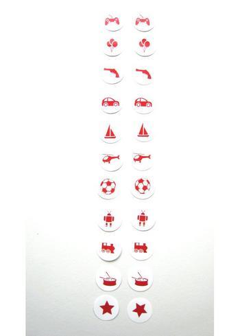 Strijkrondjes jongen rood  Kousen  Accessoires