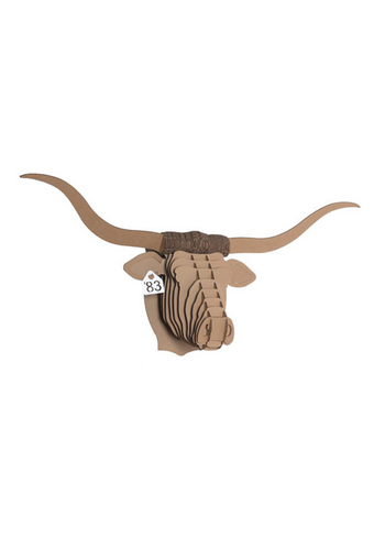 Tex Longhorn Brown large  Karton  Interieurdecoratie