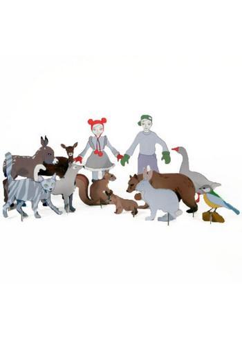 Totem figuurtjes 'Figurines'  Karton  Speelgoed / creatief