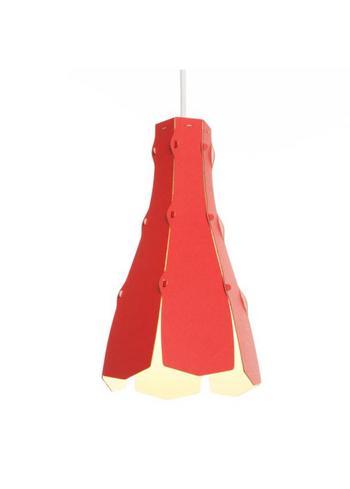 tweezijdige lampenkap Lily red  Karton  Interieurdecoratie