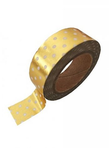 washi/masking tape gold foil white dots  Karton  Masking tape/Washi tape