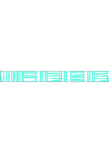 washi/masking tape Sky blue Brush border  Karton  Masking tape/Washi tape