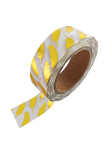 washi/masking tape white gold foil feather  Karton  Masking tape/Washi tape