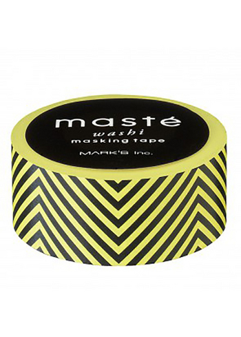 washi/masking tape Yellow/black zigzag  Karton  Masking tape/Washi tape