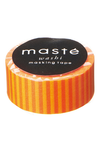 Washi tape - Colorful Orange/stirpes  Karton  Masking tape/Washi tape