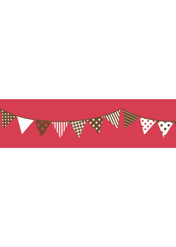 Washi tape - Garland Red  Karton  Masking tape/Washi tape