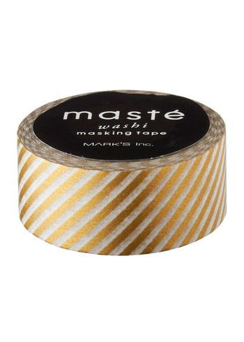 Washi tape Gold Stripes  Karton  Masking tape/Washi tape