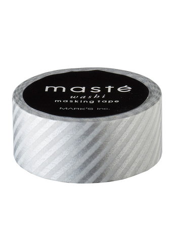 Washi tape Silver Stripes  Karton  Masking tape/Washi tape