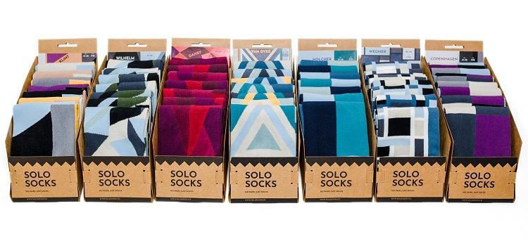 Valentijn TIP! SOLOSOCKS - geen paren - 7 kleurrijke sokken