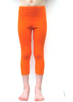 3/4e legging oranje  Kousen  Leggings