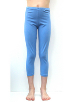 3/4e legging pastelblauw/lilablauw  Kousen