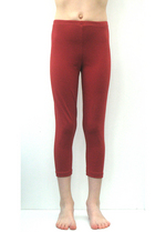 3/4e legging steenrood  Kousen  Leggings