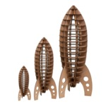Astro Rocket small - brown  Karton  Interieurdecoratie