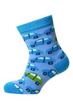 Babysokjes mini auto blauw  Kousen  Kousen/sokken