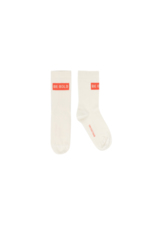 'BE BOLD' MEDIUM SOCKS cream/red  Kousen