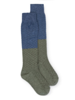 Blue and Green Long Socks  Kousen  Kniekousen