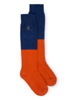 Blue and Red Long Sock  Kousen
