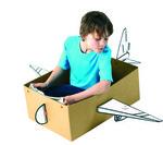 Boxprops: Vliegtuig  Karton  Speelgoed / creatief
