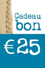 Cadeaubon van € 25  Karton