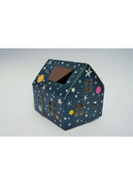 Casagami: Kartonnen huisje/nachtlamje  op zonneergie - Stars  Karton