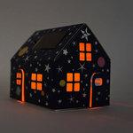 Casagami: Kartonnen huisje/nachtlamje  op zonneergie - Stars  Karton  Interieurdecoratie