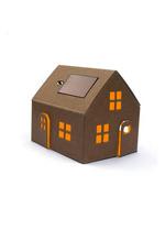 Casagami Original- kartonnen huisje/nachtlampje met zonnepaneel  Karton  Interieurdecoratie