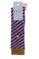 Kniekousen Diagonal stripe Ink blu - Peachy pink  Kousen  Kniekousen