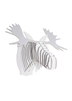 Fred Jr Moose white medium  Karton  Interieurdecoratie