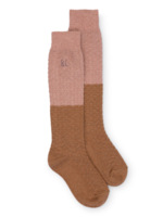 Gold and Pink Long Socks  Kousen  Kniekousen