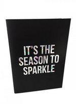 Greeting card Season to Sparkle  Karton