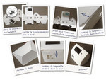Casagami 'Imagine me': Kartonnen huisje/nachtlamje  op zonneergie - wit  Karton  Interieurdecoratie