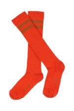 JORDAN striped knee socks - mandarin red  Kousen  Kniekousen