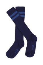 JORDAN striped knee socks - patriot blue  Kousen
