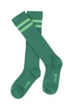 JORDAN striped knee socks - shady glade  Kousen  Kniekousen