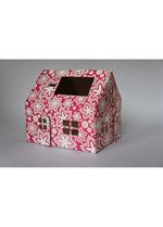Casagami: Kartonnen huisje/nachtlamje  op zonneergie - Flowers  Karton