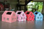 Casagami: Kartonnen huisje/nachtlamje  op zonneergie - Flowers  Karton  Interieurdecoratie