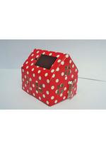 Casagami: Kartonnen huisje/nachtlamje  op zonneergie - Polka dots  Karton