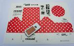 Casagami: Kartonnen huisje/nachtlamje  op zonneergie - Polka dots  Karton  Interieurdecoratie